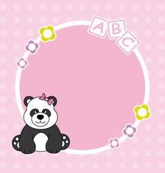 panda bear framework vector image