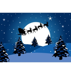 Santa claus chirstmas background vector image vector image