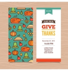 Thanksgiving Day invitation vector image