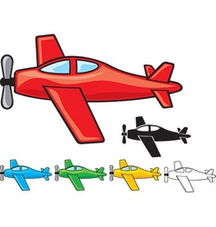 Airplanes collection vector image vector image