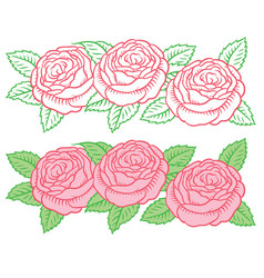 drawing flower garland vector image vector image