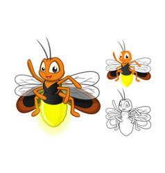 Firefly Cartoon Character vector image vector image