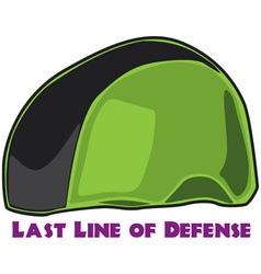 Last Line of Defense vector image vector image