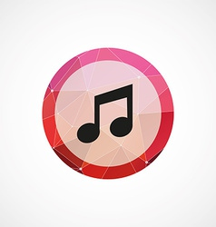 music circle pink triangle background icon vector image vector image