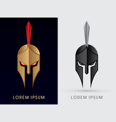 roman or greek helmet spartan helmet head vector image vector image
