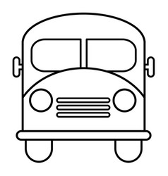 school bus icon outline line style vector image vector image
