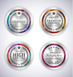 set mosaic metal label shopping vector image