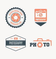 set of modern logo photo studio camera vector image