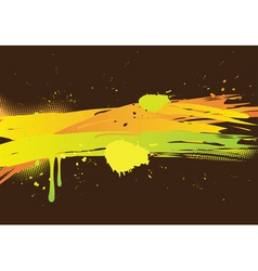 watercolor abstract on dark background vector image