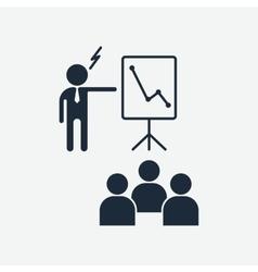 boss criticizes team vector image