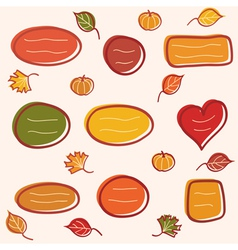 Collection of autumn text frames vector image vector image