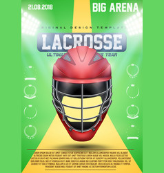 Poster Template of Cricket vector image vector image