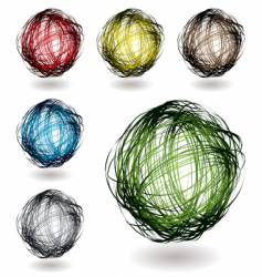 scribble color variation vector image vector image
