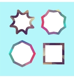 Set of lowpoly badges for attention vector image vector image