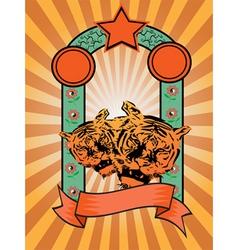 Tiger Poster background vector image