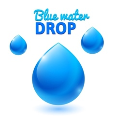 Blue water drops vector