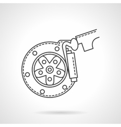 Brake pads flat line icon vector image