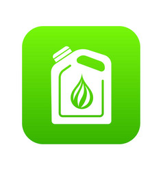 canister oil icon green vector image