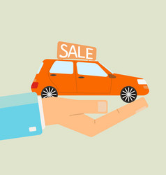 car sale or car buying concept vector image