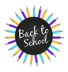 chalkboard back to school banner with color vector image