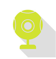 chat web camera sign pear icon with flat style vector image