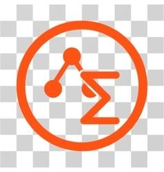 Chemical Formula Flat Rounded Icon vector image