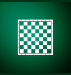 chess board icon isolated on green background vector image