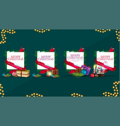 collection christmas blank templates wrapped vector image