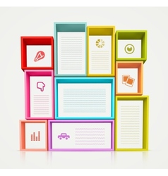 Colorful Shelves vector image