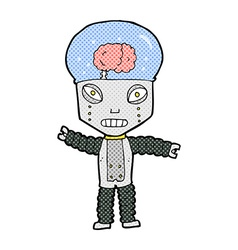 Comic cartoon future robot vector
