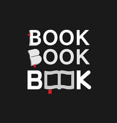 creative book typography logo vector image