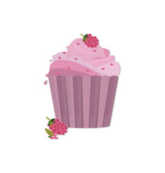 Cupcakes desserts design delicious vector