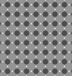 Dark gray ornament with white pointy squares vector