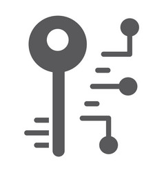 digital key glyph icon security and safety key vector image
