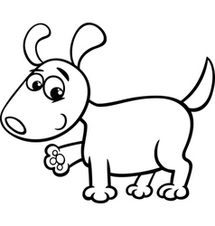 dog puppy cartoon coloring page vector image