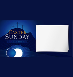Easter sunday holy week poster vector