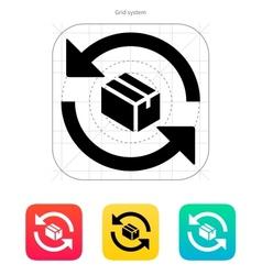 Exchange box icon vector