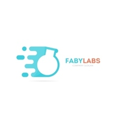 Fast bulb logo combination Speed lab vector