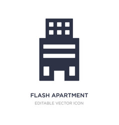Flash apartment icon on white background simple vector
