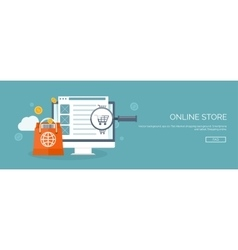 Flat header Internet vector image