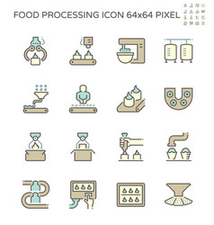Food processing industry bakery on production vector
