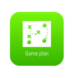 game plan icon green vector image