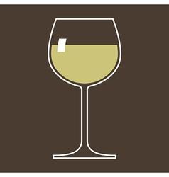 Glass white wine vector