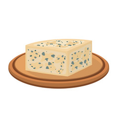 gorgonzola italian blue cheese on plate vector image