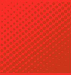 halftone dots on red background vector image