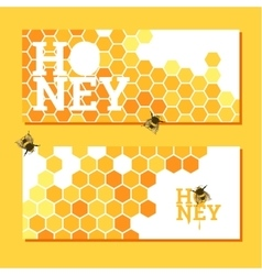 Honeycombs bright background vector image
