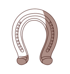 horseshoe metalic isolated icon vector image