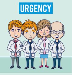 Hospital urgency medical team vector