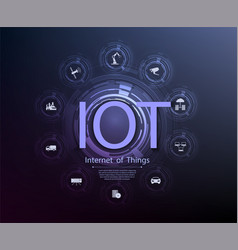Internet things iot and networking concept vector