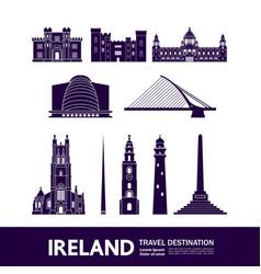 Ireland blue travel destination vector